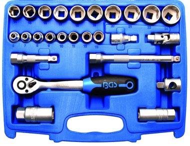 Steckschlüssel-Satz Wellenprofil Antrieb 10 mm (3/8) 26-tlg.