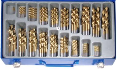 Spiralbohrer-Satz HSS, Titan nitriert, 170-tlg.