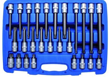 Bit-Einsatz-Satz Antrieb Innenvierkant 12,5 mm (1/2) Innenvielzahn (für XZN) 26-tlg