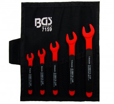 5-teiliges VDE Open End Spanner Set, 7-14 mm