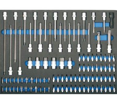 3/3 Werkzeugträger für Werkstattwagen: 104-teilige Bits und Bit-Sockel