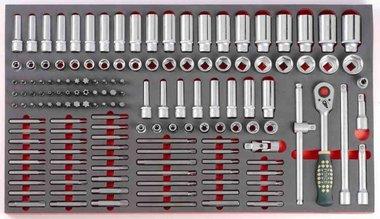 Steckschlüsselsatz in Weichschaum 149 tlg