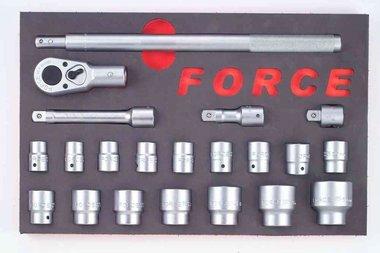 Steckschlüsselsatz in Weichschaum 21 tlg