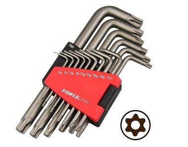 Winkelschlüsselsatz Torx mit Loch lang 15 tlg
