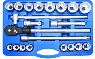 Steckschlüssel-Satz Antrieb 20 mm (3/4) Zollgrößen 21-tlg