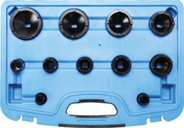 Nutmutternschlüssel-Satz Zapfen außen liegend KM0-1-2-3-8-9 11-tlg