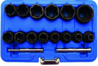 Spezial-Steckschlüssel-Einsätze , 8-27 mm, 12,5 (1/2), 16-tlg.