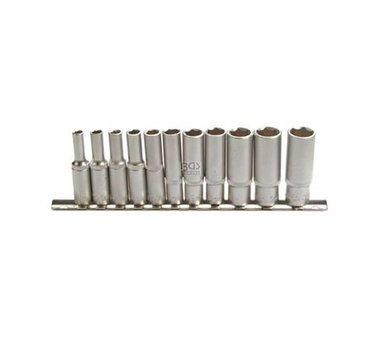 Steckschlüssel-Einsätze, tief, 6,3 (1/4), 4 -13 mm, 11-tlg.