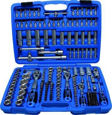 Steckschlüssel-Satz Sechskant Antrieb 6,3 mm (1/4) / 10 mm (3/8) / 12,5 mm (1/2) Zollgrößen 192-tlg