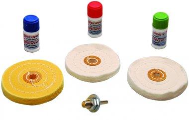 Polier-Sortiment für harte Metalle 7-tlg