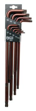 Winkelschlüssel-Satz extra lang T-Profil (für Torx) mit Kugelkopf T10 - T50 9-tlg