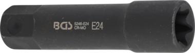 Steckschlüssel-Einsatz E-Profil, extra lang Antrieb Außensechskant 22 mm SW E24
