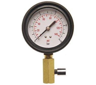 Messuhr mit Ventil für Öldrucktester Art. 8007