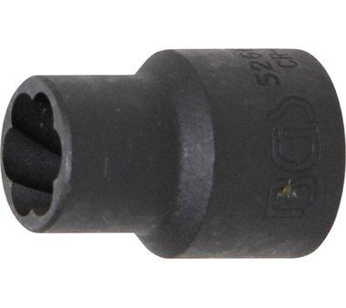 Spezial-Steckschlüssel-Einsatz / Schraubenausdreher, 12,5 (1/2), 12 mm