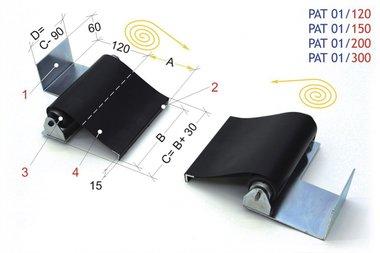 Blinde für Drehautomaten 1200mm, -1,60kg