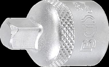 Steckschlüssel-Adapter Innenvierkant 10 mm (3/8) - Außenvierkant 6,3 mm (1/4)