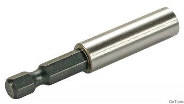 Magnetischer Bithalter Abtrieb Außensechskant 6,3 mm (1/4) 60 mm