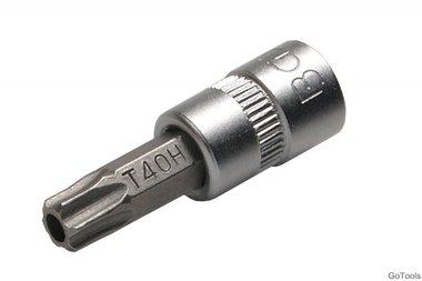 Bit Einsatz 6,3 (1/4) T-Profil mit Bohrung, T40