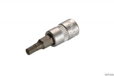 Bit-Einsatz 6,3 (1/4), Innen-6-kant 4 mm