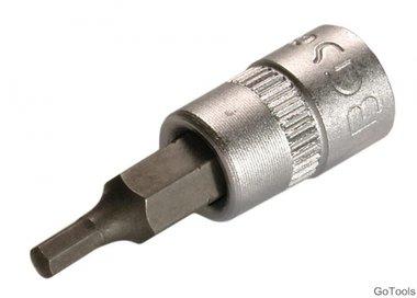 Bit-Einsatz 6,3 (1/4), Innen-6-kant 3 mm