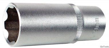 Steckschlüssel-Einsatz 10 (3/8), Super Lock, tief, 16 mm