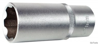 Steckschlüssel-Einsatz 10 (3/8), Super Lock, tief, 14 mm
