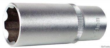 Steckschlüssel-Einsatz 10 (3/8), Super Lock, tief, 19 mm