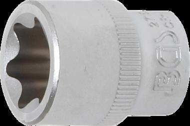 Steckschlüssel-Einsatz E-Profil Antrieb Innenvierkant 10 mm (3/8) SW E20