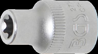 Steckschlüssel-Einsatz E-Profil Antrieb Innenvierkant 10 mm (3/8) SW E8