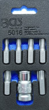 Schraubendreher-Bit-Satz | Antrieb Außensechskant 10 mm (3/8) | T-Profil (für Torx) | 7-tlg.