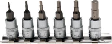 Bit-Einsatz-Satz | Antrieb Innenvierkant 6,3 mm (1/4) | Innensechskant 1,5 - 6 mm