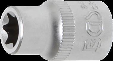 Steckschlüssel-Einsatz E-Profil Antrieb Innenvierkant 10 mm (3/8) SW E11
