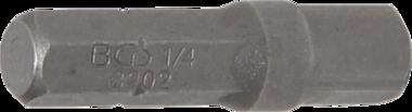 Bit-Knarren-Adapter Außensechskant 6,3 mm (1/4) - Außenvierkant 6,3 mm (1/4) 30 mm
