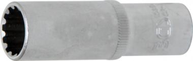 Steckschlüssel-Einsatz Gear Lock, tief Antrieb Innenvierkant 10 mm (3/8) SW 14 mm