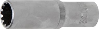Steckschlüssel-Einsatz Gear Lock, tief Antrieb Innenvierkant 10 mm (3/8) SW 13 mm
