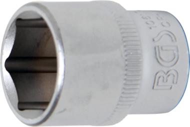 Steckschlüssel-Einsatz Sechskant Antrieb Innenvierkant 10 mm (3/8) SW 17 mm