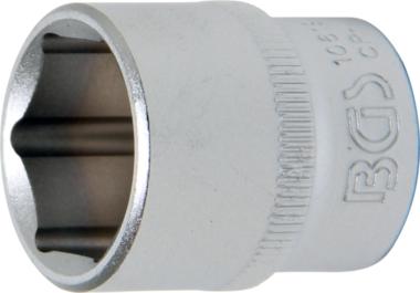 Steckschlüssel-Einsatz Sechskant   Antrieb Innenvierkant 10 mm (3/8)   SW 18 mm