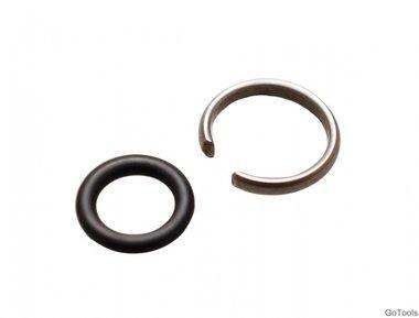Keerring + O-ring voor slagmoersleutel, 12,5 mm (1/2)