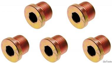 Ölablassschrauben zu Art. 126 M17 x 1,5 mm 5-tlg.