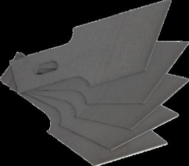 Ersatz-Schneideklingen für Art. 364, 0,6 x 16 mm x 53° 5-tlg