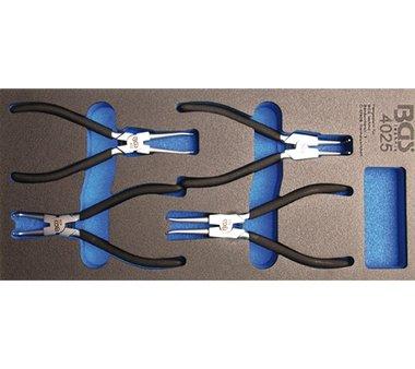 Werkzeugfach 1/3: Sicherungsringzangen-Set 4-tlg.
