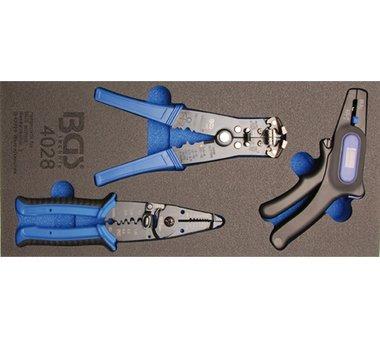 Werkzeugablage 1/3: Abisolierzange 3-tlg