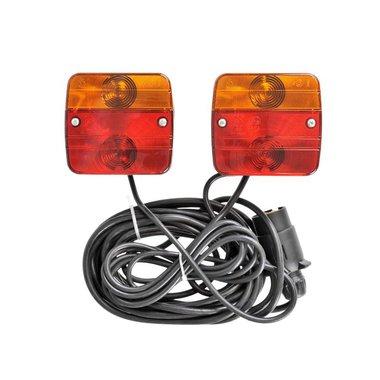 Rückleuchten-Set auf Magnet 7,5+2,5M Kabel
