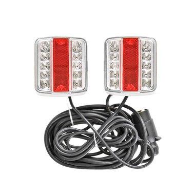 Rückleuchten-Set LED auf Magnet 7,5+2,5M Kabel