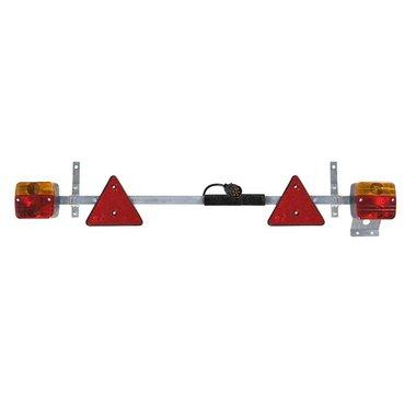 Beleuchtungstafel Metall 110-160cm ausziehbar + 7,5M Kabel
