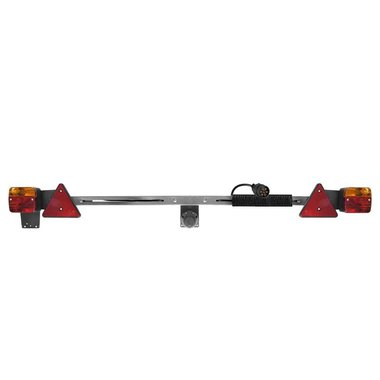 Beleuchtungstafel Metall 140-200cm ausziehbar + 12M Kabel