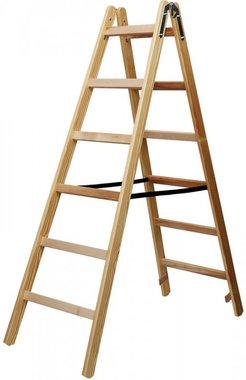 Houten ladder 2x6 sporten Hoogte bok ladder 1,58m