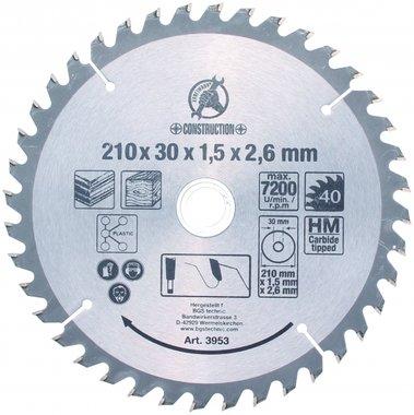 Hartmetall-Kreissägeblatt, Ø 210 mm
