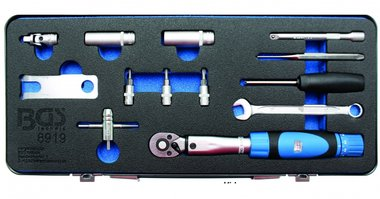 Werkzeug-Satz für Reifendruck Kontrollsystem (RDKS) 13-tlg
