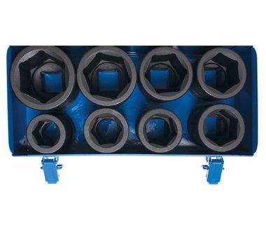 Kraft-Steckschlüssel-Einsatz-Satz Sechskant, tief Antrieb Innenvierkant 27-50mm 8-tlg